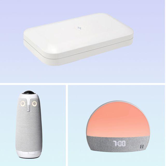 phone soap, charger, air purifier, speks, hatch restore, meeting owl pro