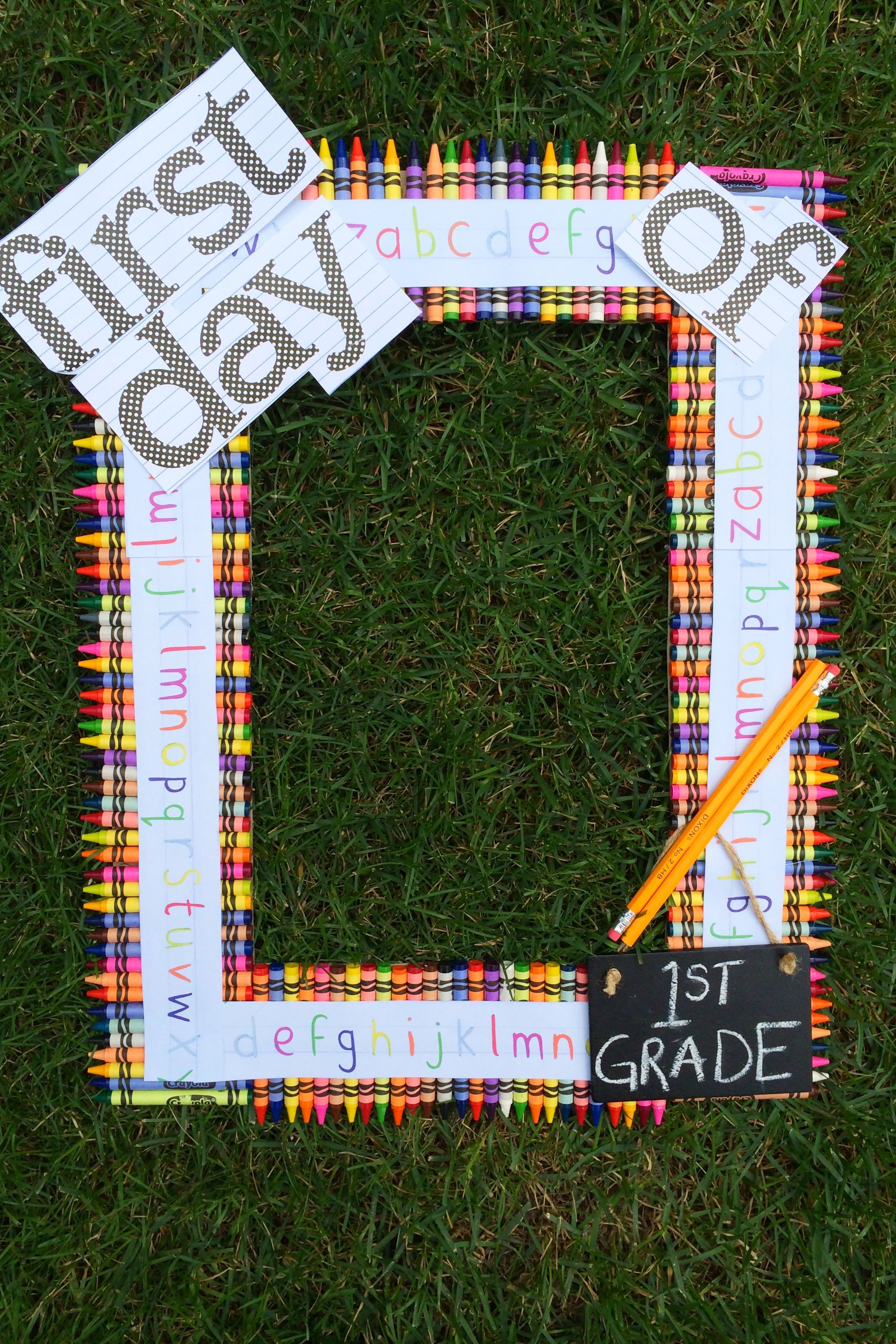 diy back to school picture frame