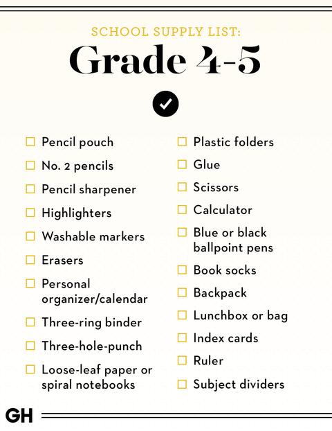 Back To School Supplies List 2019 Best School Shopping