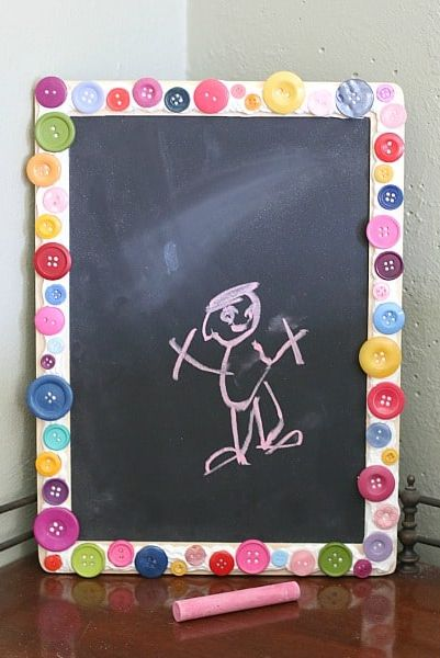 back to school diy button chalkboard