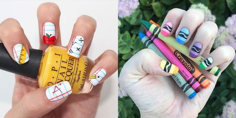 back to school nails - 7 Fun Back-to School Nails - Cute Girls' Nail Designs For School