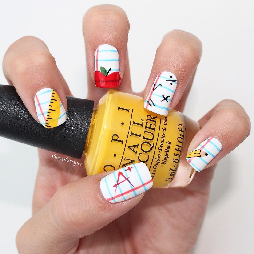 7 Fun Back,to School Nails , Cute Girls\u0027 Nail Designs for School