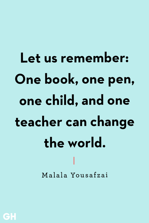 Back To School Quotes Malala Yousafzai