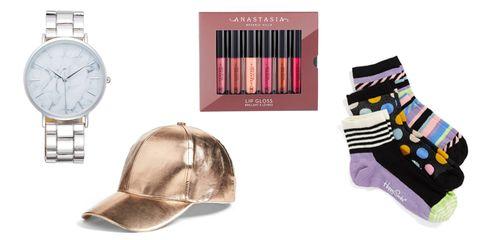Product, Brown, Purple, Lipstick, Pink, Violet, Magenta, Lavender, Watch, Fashion,