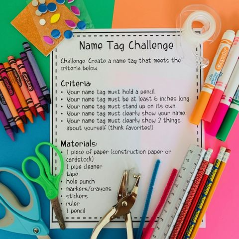 back to school stem challenge activity