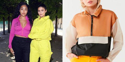 Clothing, Orange, Yellow, Shoulder, Neck, Waist, Fashion, Outerwear, Joint, Sleeve,