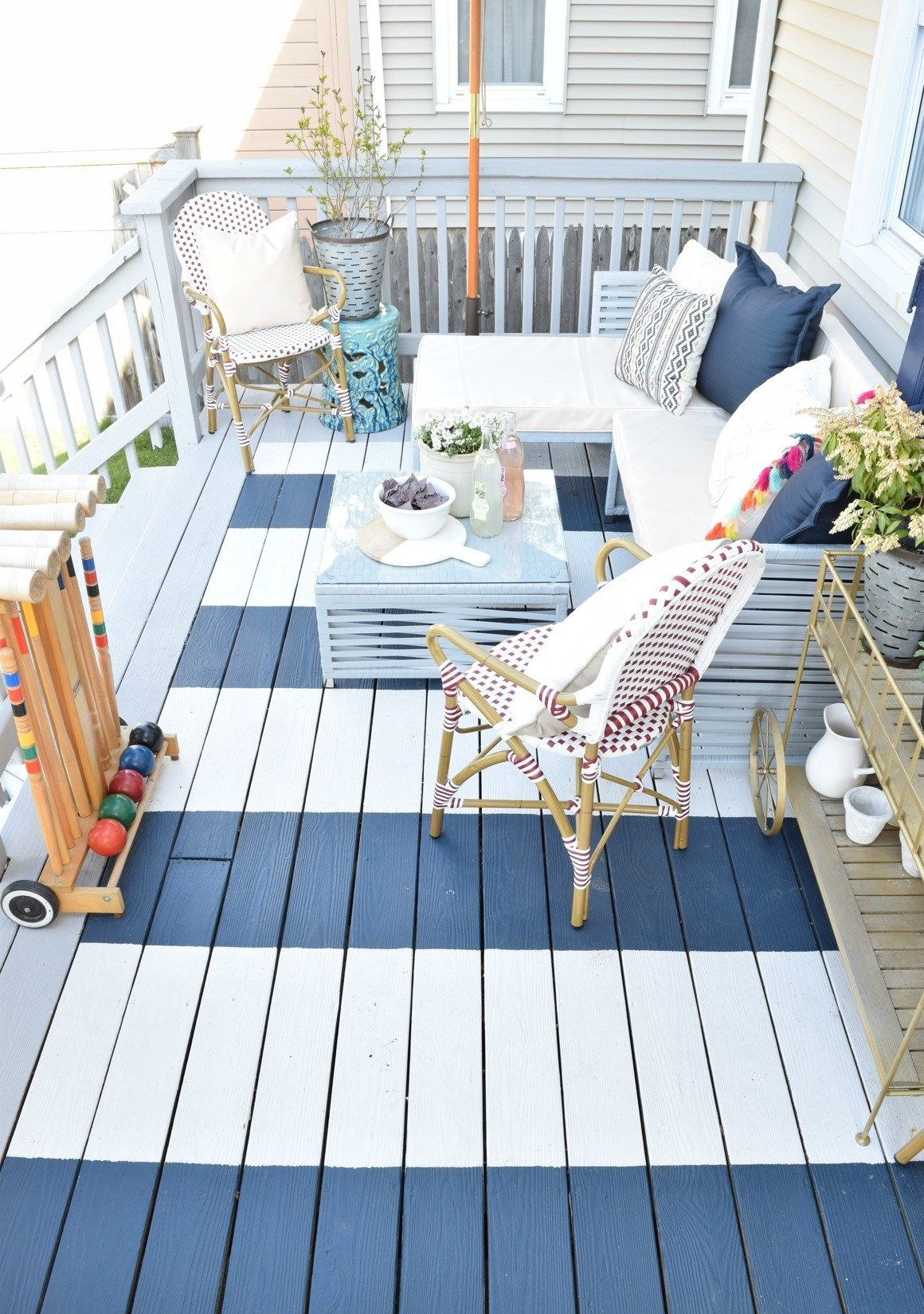 5 Painted Deck. Courtesy Of Nesting With Grace