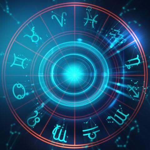 Backdrop design of sacred zodiac symbols