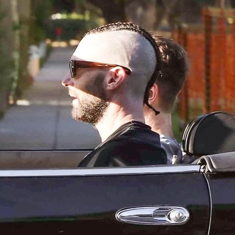 See Adam Levine S New Shaved Head And Cornrows Hairstyle 2019