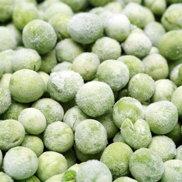 background of frozen garden peas