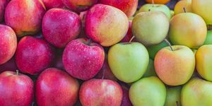 background texture colorful apples
