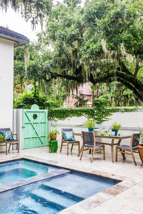 small backyard with swimming pool