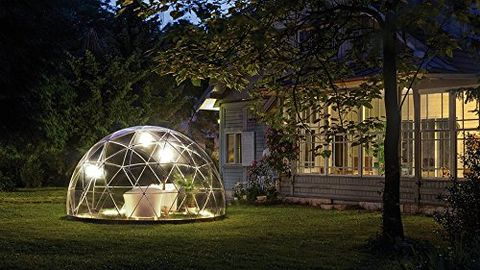 Dome, Dome, Lighting, Biome, Grass, Tree, House, Architecture, Plant, Building,
