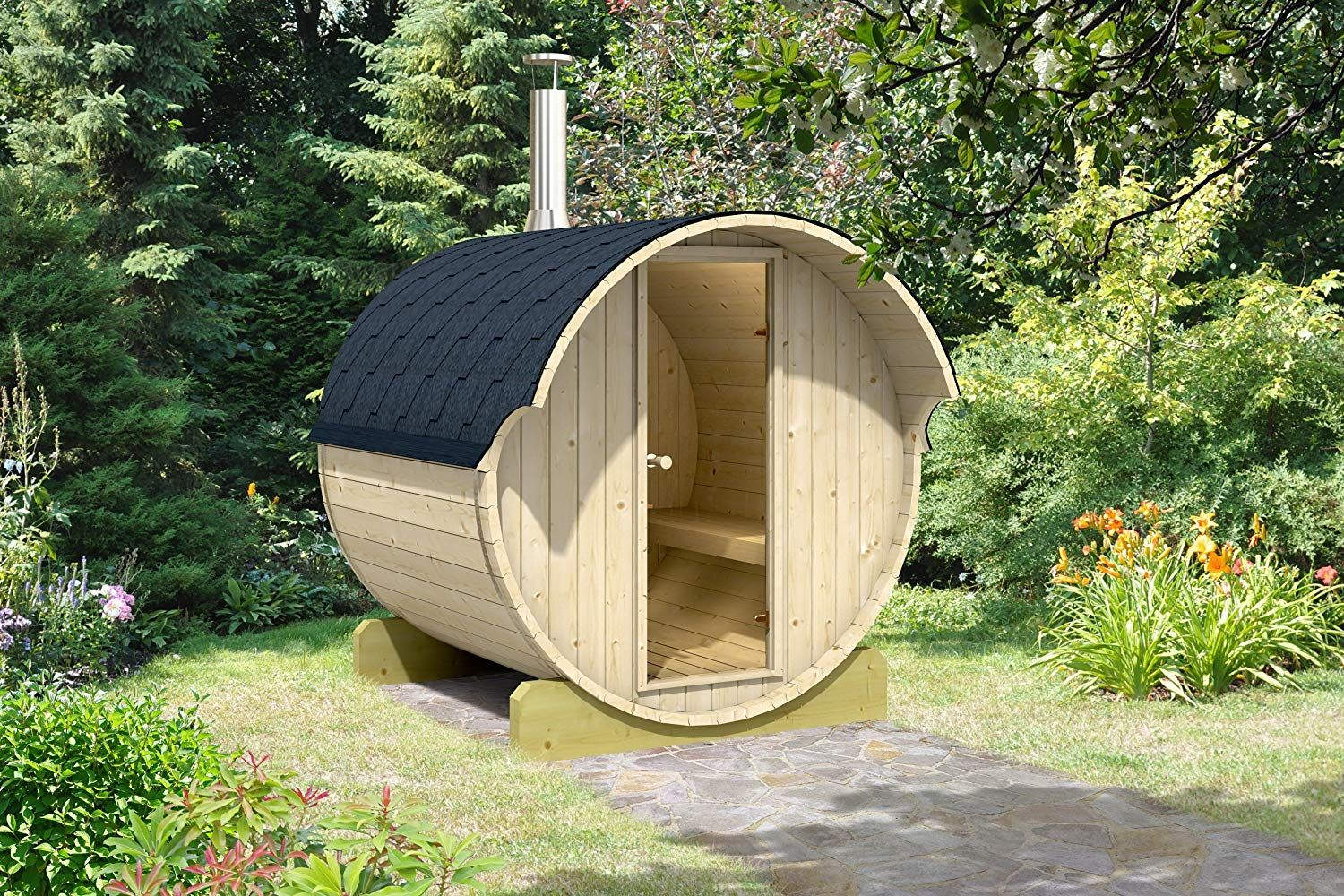 Amazon Is Selling A DIY 4-Person Sauna For Your Backyard