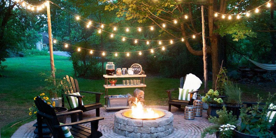 32 Backyard Lighting Ideas - How to Hang Outdoor String Lights