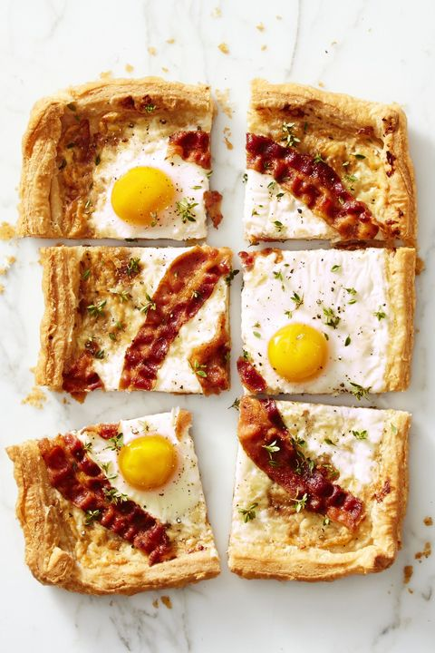 """Breakfast In Bed - Bacon Gruyére Breakfast """"Pie"""""""