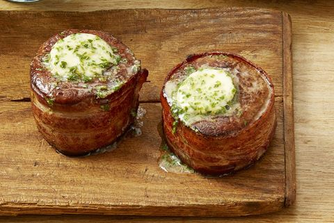 bacon wrapped filets with cowboy butter christmas dinner menu