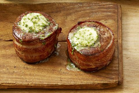 bacon wrapped filets with cowboy butter new years dinner ideas
