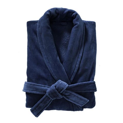 badjas velours donkerblauw