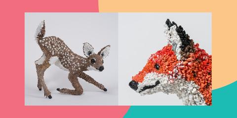 Animal figure, Canidae, Wildlife, Art, Snout, Organism, Font, Fox, Adaptation, Fawn,