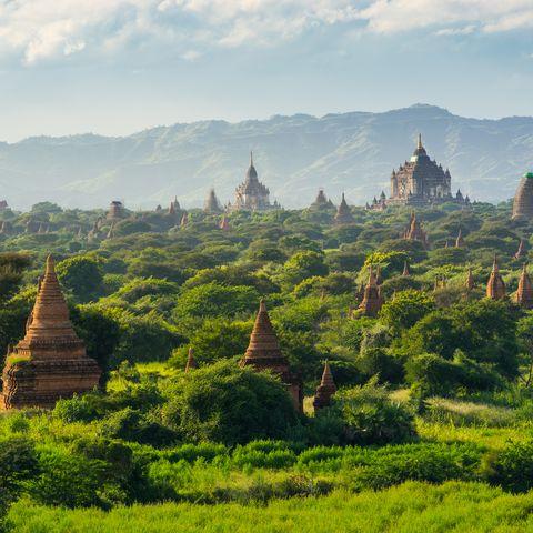 bagan ancient city pagodas and monastery, mandalay, myanmar