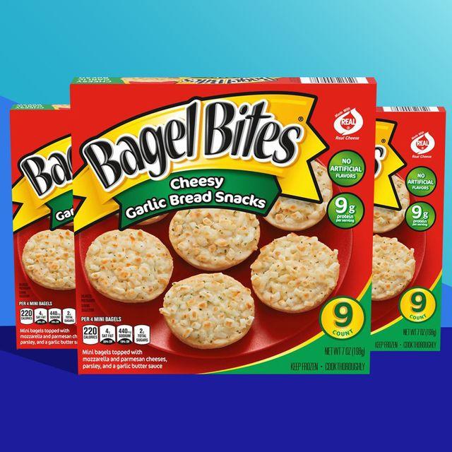 bagel bites cheesy garlic bread