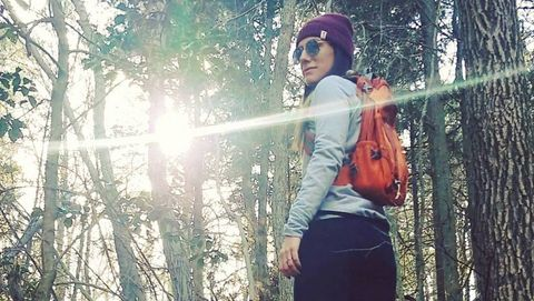 Tree, Natural environment, Forest, Sunlight, Cool, Outerwear, Woody plant, Headgear, Photography, Fun,