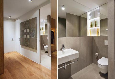 Plumbing fixture, Lighting, Wood, Architecture, Bathroom sink, Interior design, Room, Property, Wall, Floor,