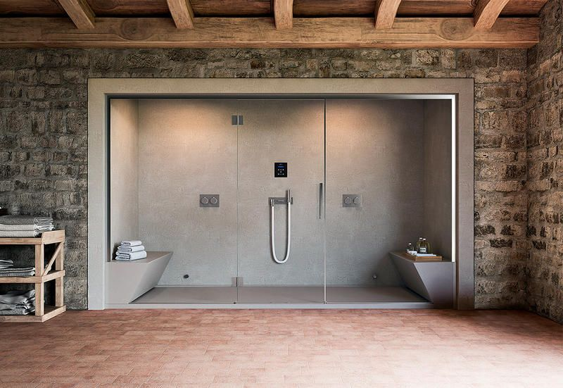Bagno turco con saune da casa per una mini spa domestica