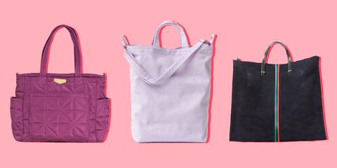 Bag, Handbag, Product, Pink, Fashion accessory, Tote bag, Shopping bag, Paper bag, Material property, Font,