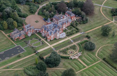 Aerial view of Bagshot Park the Royal residence of Prince Edward, Earl of Wessex and Sophie, Countess of Wessex