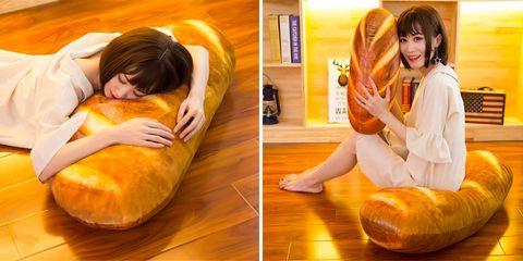 Orange, Yellow, Bean bag, Furniture, Food, Junk food, Bean bag chair, Dish, Sitting, Floor,