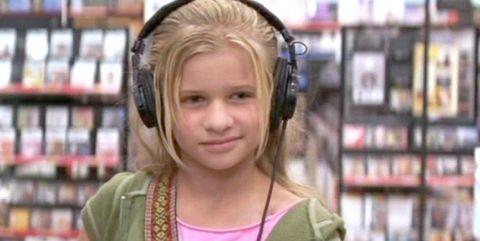 Hair, Face, Hairstyle, Forehead, Eyebrow, Ear, Cheek, Audio equipment, Chin, Blond,