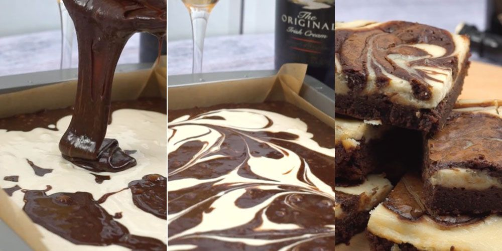 These Baileys cheesecake brownies look so delicious