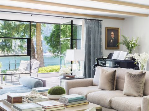 HOUSE TOUR: A Designer Daughter's Take On Her Childhood Home ... on garage with windows, garage with pool, garage with landscaping, garage with fireplace, garage with bathroom, garage with living room,