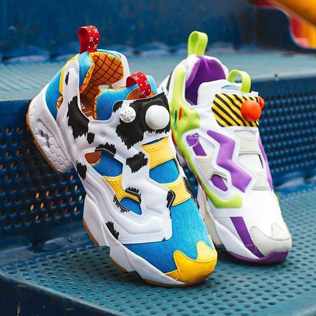 bait, pixar, and reebok's 'toy story' woody and buzz sneakers