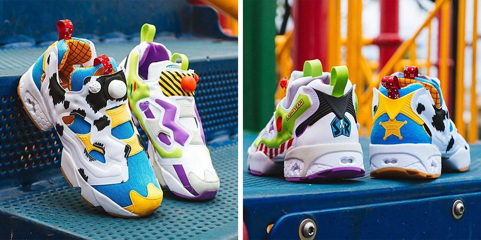 Reebok and Pixar Have Created Mismatched 'Toy Story' Sneakers in Woody and Buzz Designs thumbnail