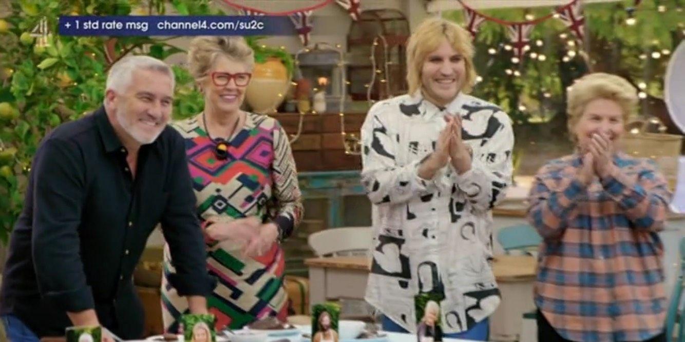 Great Celebrity Bake Off 3/26/19: Paul Hollywood, Noel Fielding, Sandi Toksvig