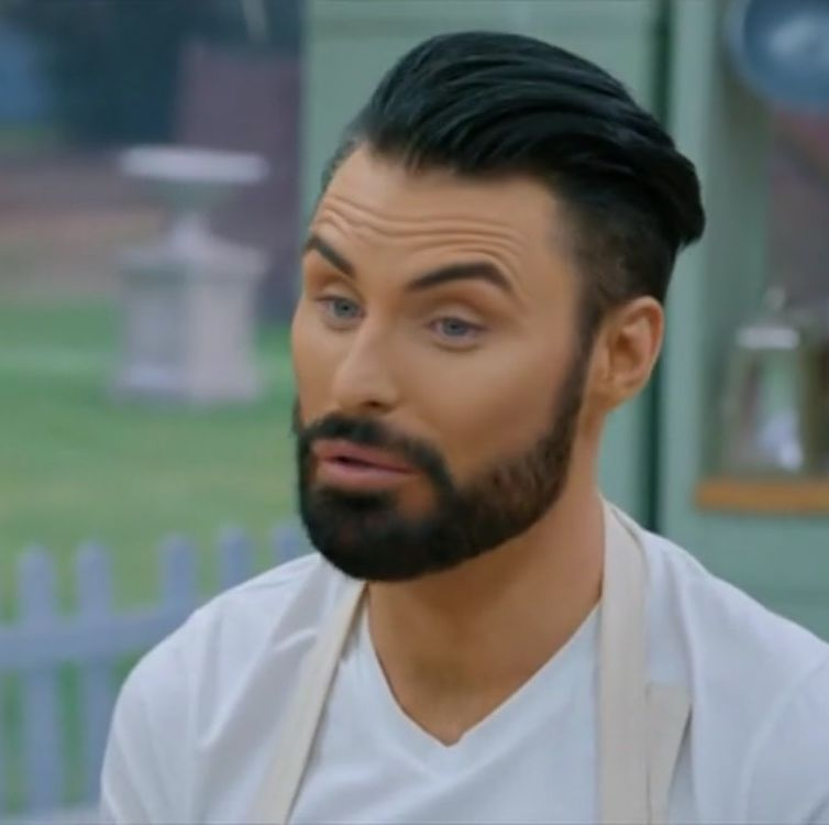 The Great Celebrity Bake Off's Rylan Clark-Neal grosses out presenters with a giant 'poo cake'