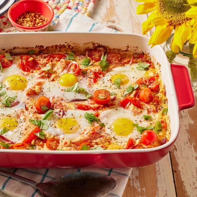 the pioneer woman's baked feta egg bake casserole
