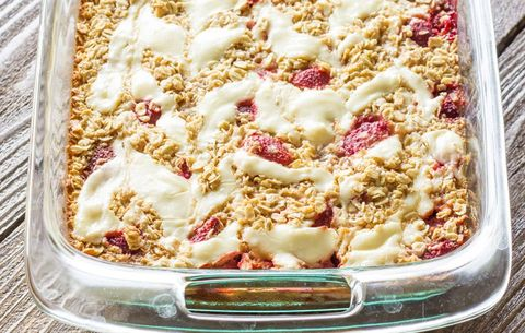 Strawberry Cheesecake Baked Oatmeal