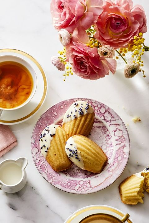 baking recipes  white chocolate and lavender madeleines