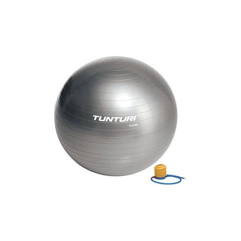 tunturi fitnessbal gymball grijs zilver