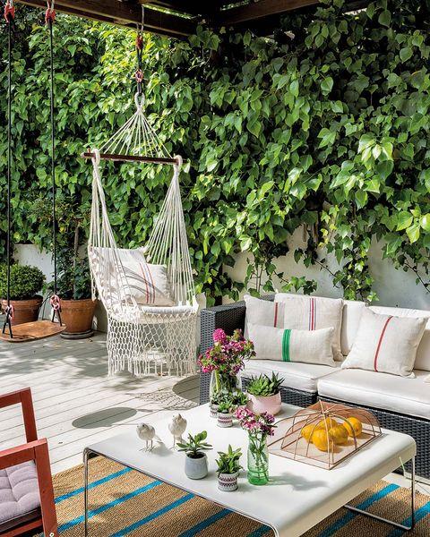 Muebles exterior: Porche con columpio