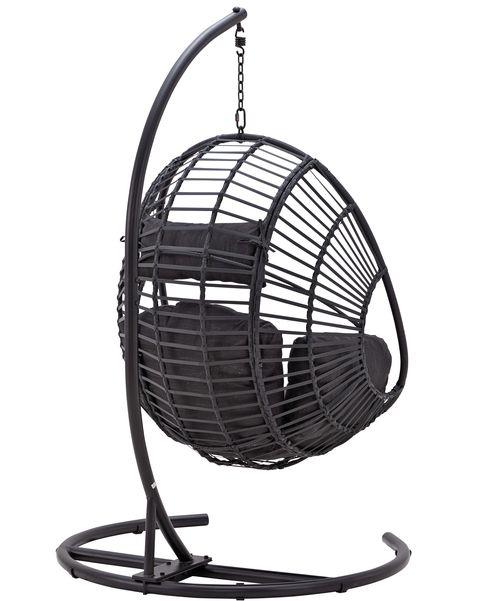 columpio color negro como sillón