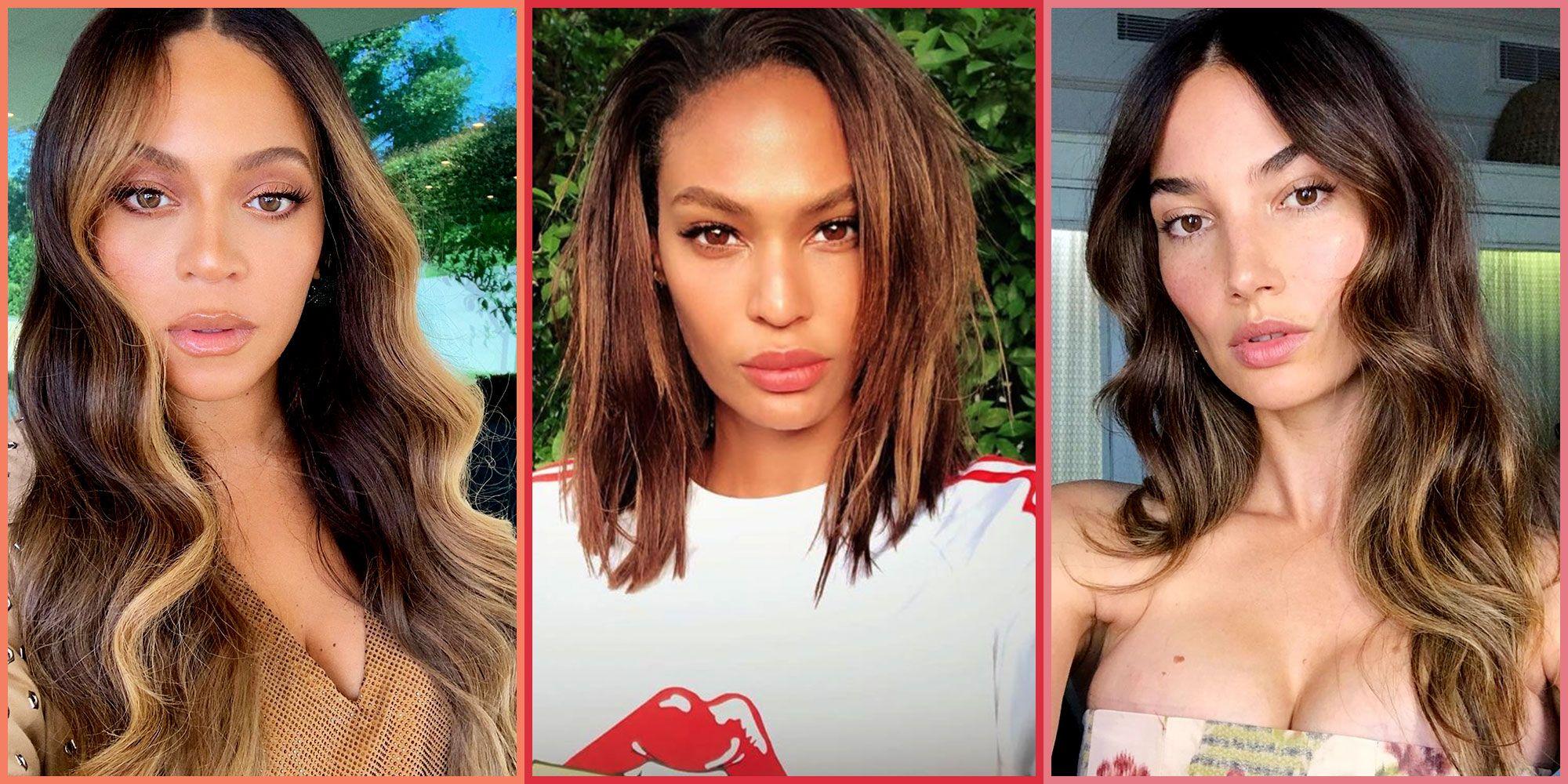 20 Balayage Dark Brown Hair Ideas on Celebrities for 2019