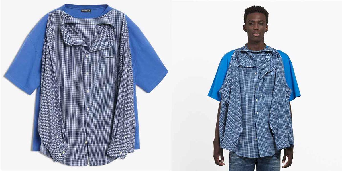 889fb562 Balenciaga's $1,290 'T-Shirt Shirt' Has Twitter Deeply Confused