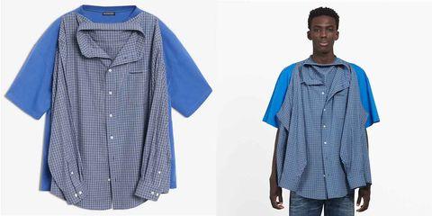 9860b056964b Balenciaga's $1,290 'T-Shirt Shirt' Has Twitter Deeply Confused