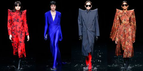 Fashion model, Fashion, Clothing, Runway, Haute couture, Fashion design, Fashion show, Formal wear, Outerwear, Dress,