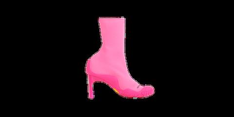 Footwear, Pink, High heels, Magenta, Shoe, Violet, Boot, Leg, Suede,
